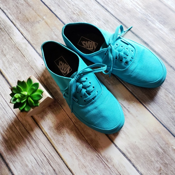 Vans Turquoise Mono Authentic Scuba Unisex Shoes. M 5bf41b40aaa5b872113e7f25 8089e7187